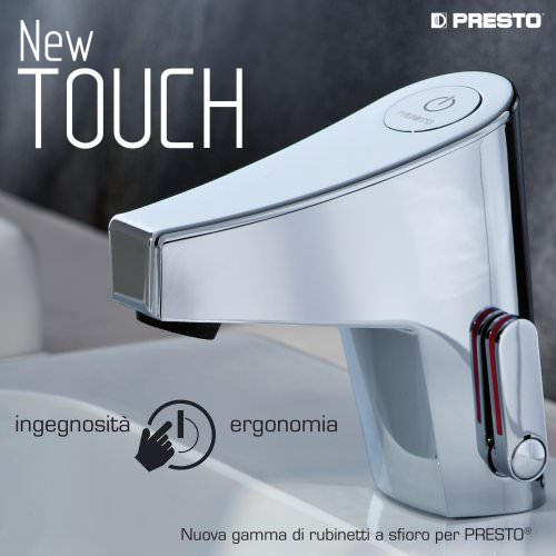 NEW TOUCH, la gamma di rubinetti a sfioro per PRESTO