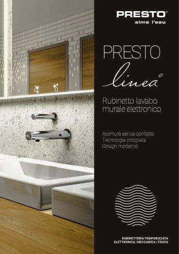 Presto LINEA® - rubinetto murale elettronico lavabo
