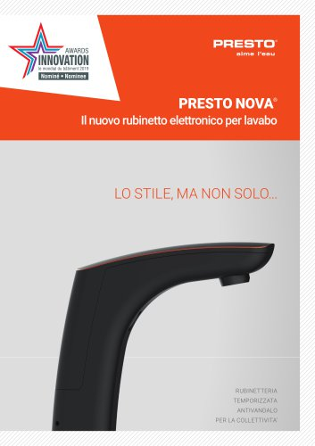 PRESTO NOVA® - nuovo rubinetto elettronico