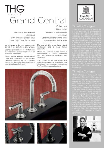 GRAND CENTRAL WITH METAL LEVER HANDLE: U9L