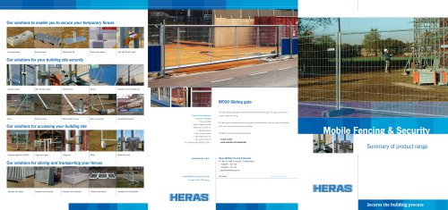 Mobile fencing & security