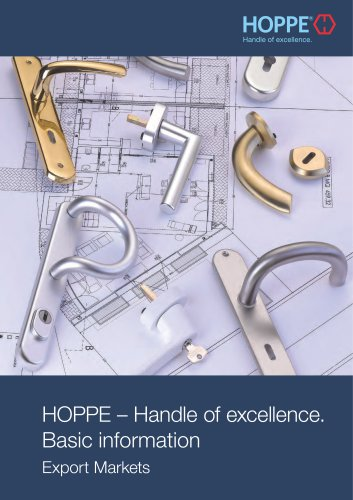 HOPPE - Handle of excellence. Basic information