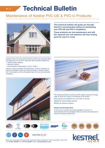 Maintenance of Kestrel PVC-UE & PVC-U Products
