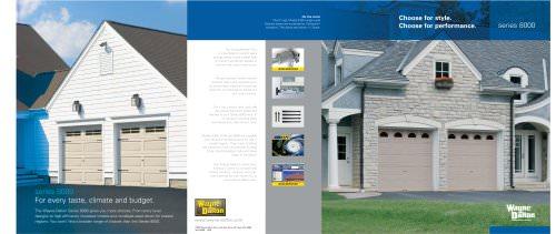 Brochure for Steel Garage Doors (Series 8000)