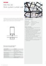 WICTEC 60 Stick system curtain wall