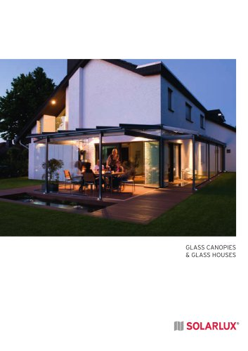Glass canopies & glass houses