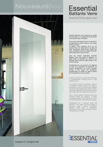 Essential Swing glass door