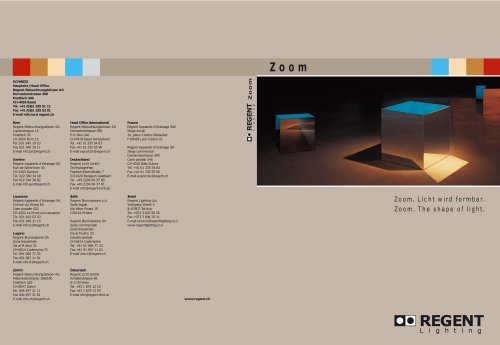 Zoom spot series catalogue