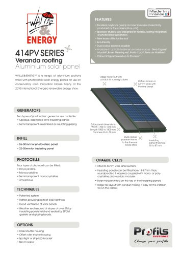 Wallis&® Energy photovoltaics sunroom roofing