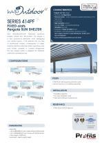 Wallis&Outdoor® fixed slats Pergola