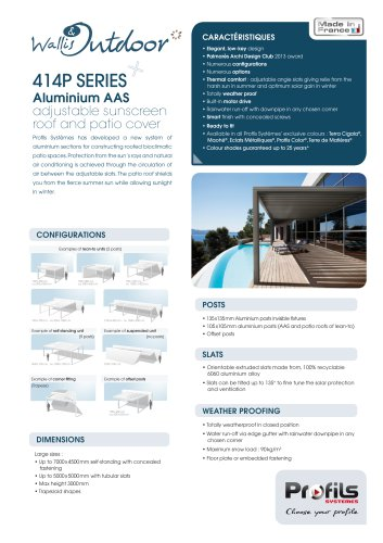 Wallis & Outdoor® Pergolas & AAS roofs