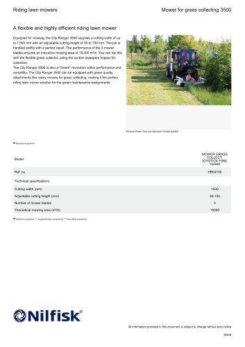 Mower for grass collecting 3500