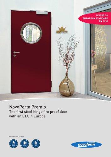NovoPorta Premio The first steel hinge fire proof door with an ETA in Europe