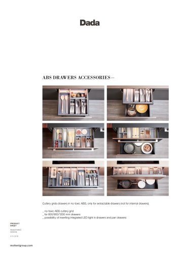 ABS DRAWERS ACCESSORIES—