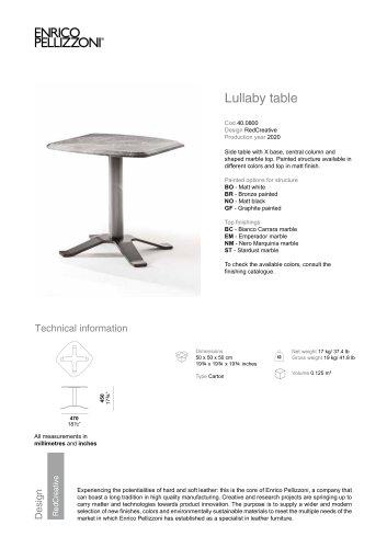 Lullaby tavolino
