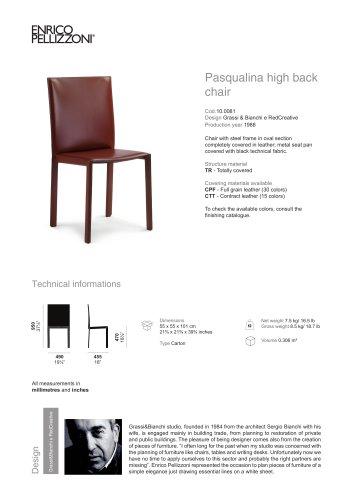 Pasqualina high back chair