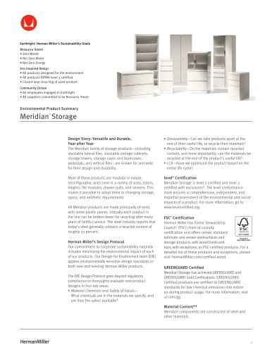 Meridian® Storage