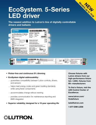 5-Series LED Driver with EcoSystem