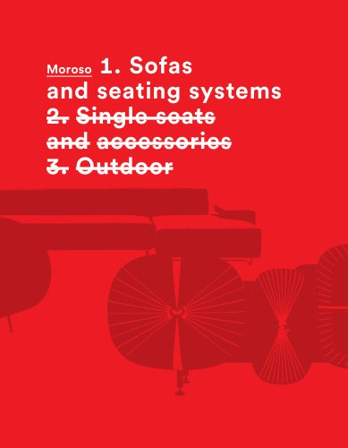MOROSO Vol1 Sofa and seating systems