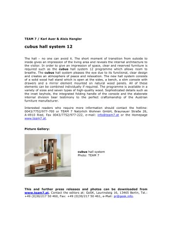 cubus hall system 12