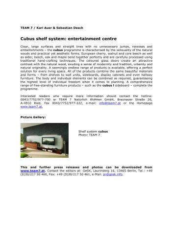 Cubus shelf system: entertainment centre