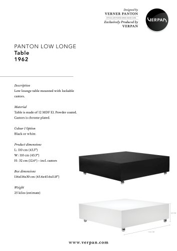 LOW LOUNGE TABLE