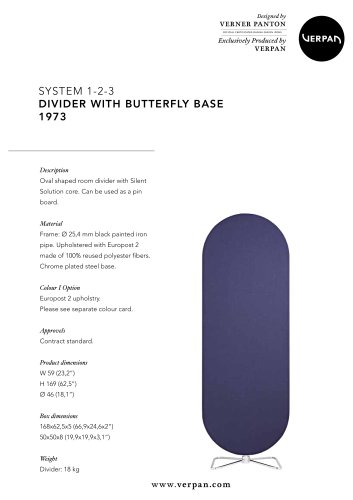 SYSTEM 1-2-3 DIVIDER WITH BUTTERFLY BASE