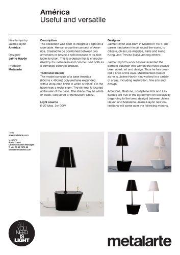 Floor lamp:América