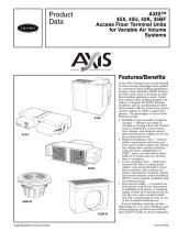 45X, 45U, 42K, 35BF Axis Access Floor Terminal Units for Variable Air Volume Systems