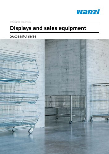 Displays and sales equipment