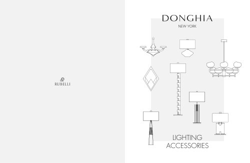 Donghia - 2018-2019 Furniture & Lighting Catalogue