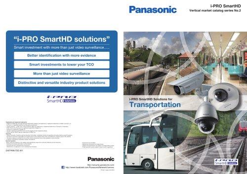 i-PRO SmartHD Solutions for Transportation