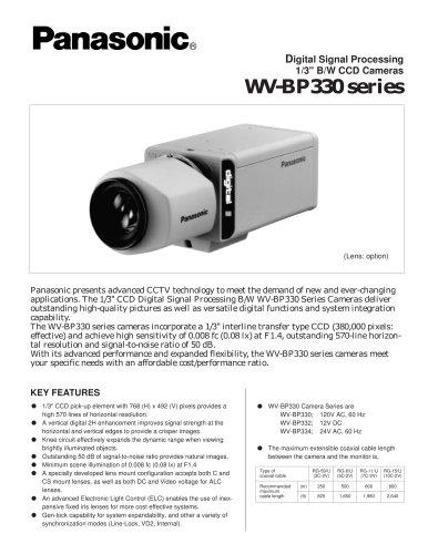 WV-BP330 series