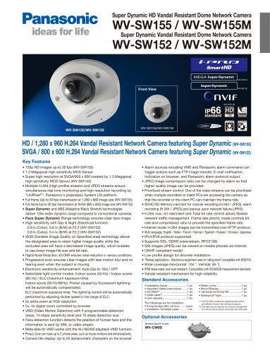 WV-SW155 / WV-SW155M / WV-SW152 / WV-SW152M