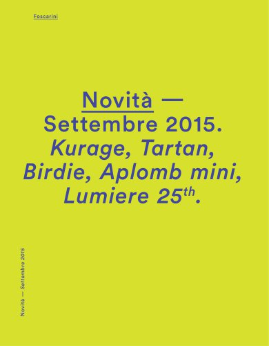 FOSCARINI NEWS SEPT 2015