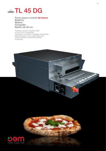 Forno pizza a tunnel da banco TL45DG