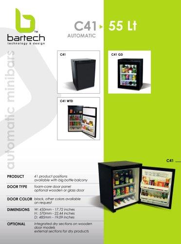 Bartech 55 Lt automatic minibar specifications