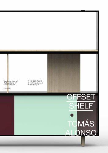 Offset shelf