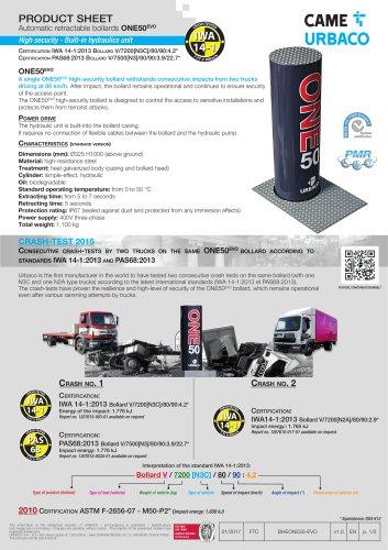 Automatic retractable bollards ONE50EVO