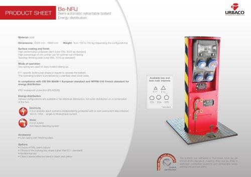 Be-NRJ Semi-automatic retractable bollard