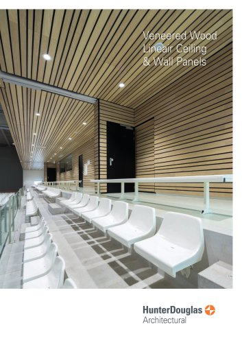 Veneered Wood Lineair Ceiling & Wall Panels