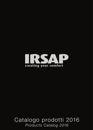 Irsap Catalogue 2016