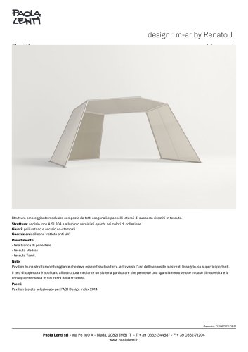 Pavilion    design : m-ar by Renato J. Morganti