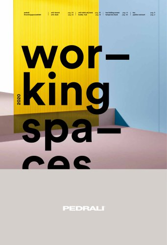 Pedrali Working Spaces 2020