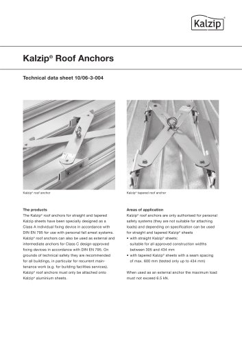 Kalzip Roof Anchors