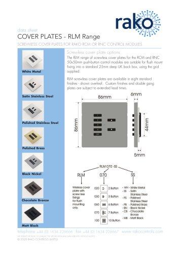 COVER PLATES - RLM Range