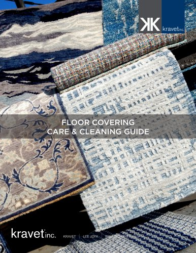 FLOOR COVERING CARE & CLEANING GUIDE