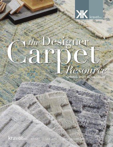 the Designer Carpet Resource SPRING 2020 ADDENDUM