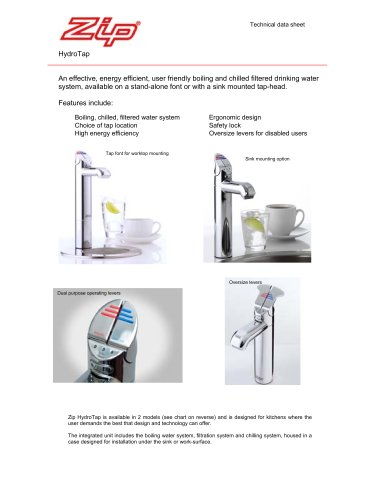 BOILING & CHILLED FILTERED WATER