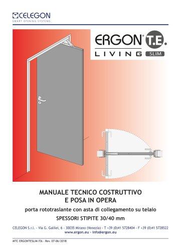 CELEGON - Ergon Living TE Slim - Manuale Tecnico IT-rev7